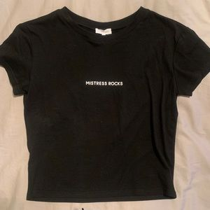 Black T-Shirt from Top Shop